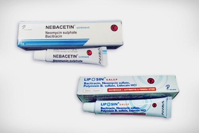 Bacitracin pada salep Nebacetin dan Liposin