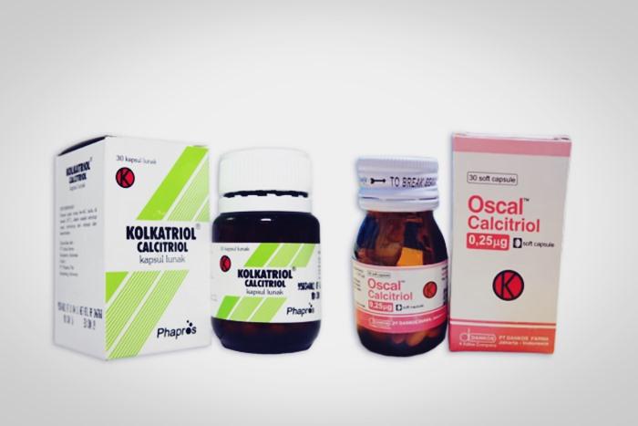 Calcitriol pada obat merek oscal dan kalkatriol