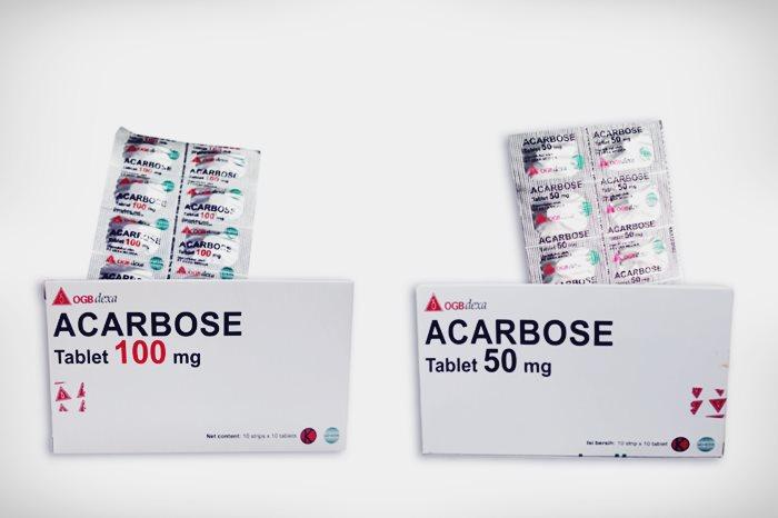 acarbose tablet 100 mg dan 50 mg