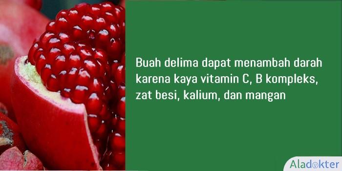 delima buah penambah darah aladokter