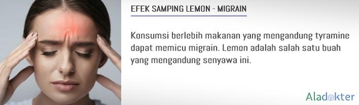 efek samping buah lemon migrain aladokter