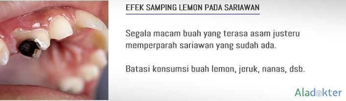 efek samping buah lemon sariawan aladokter