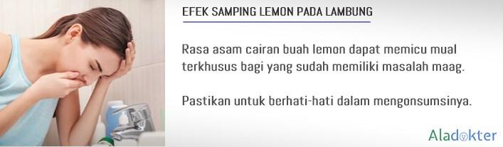 efek samping lemon bikin mual aladokter