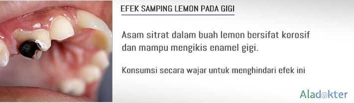 efek samping lemon pada gigi aladokter