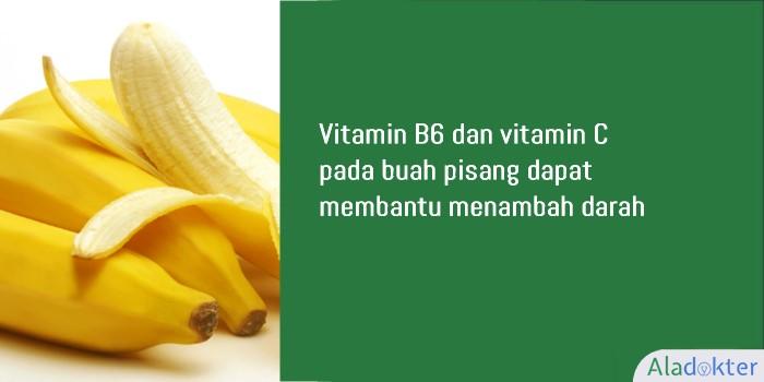 pisang buah penambah darah aladokter