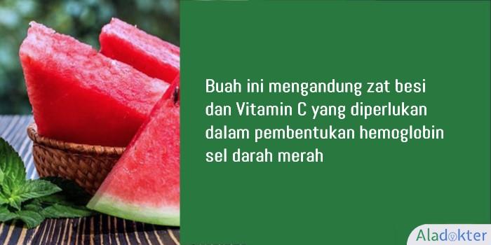 semangka buah penambah darah aladokter