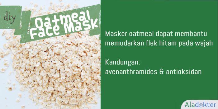 cara alami menghilangkan flek hitam dengan masker oatmeal