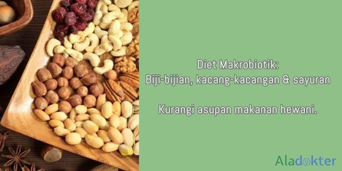diet makrobiotik untuk menaikkan trombosit aladokter