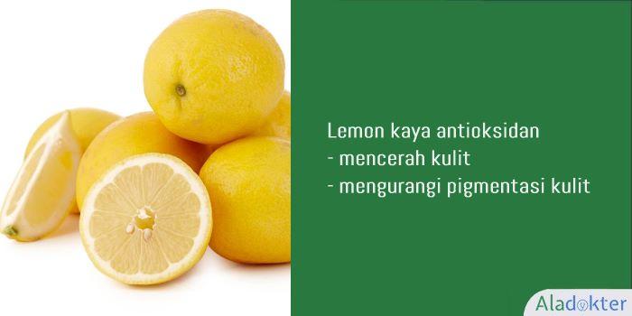 lemon cara menghilangkan flek hitam secara alami