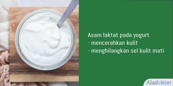 menghilangkan flek hitam dengan yoghurt