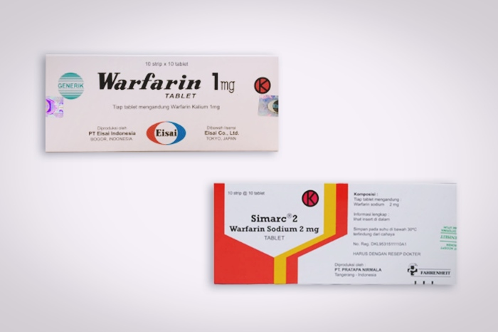 warfarin tablet generik dan simarc