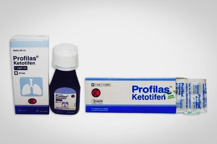 ketotifen merek profilas tablet dan sirup
