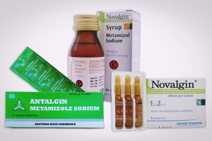 metamizol sodium pada novalgin dan antalgin