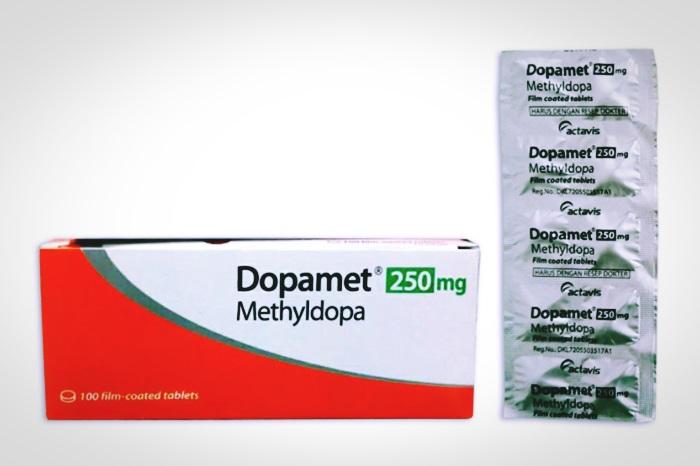 metildopa dopamet 250 mg