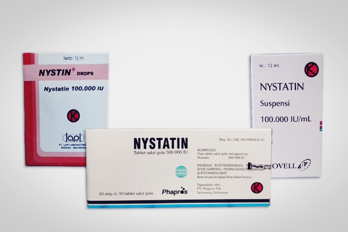 nystatin tablet suspensi dan drop