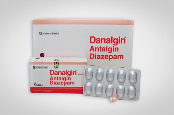 danalgin antalgin diazepam