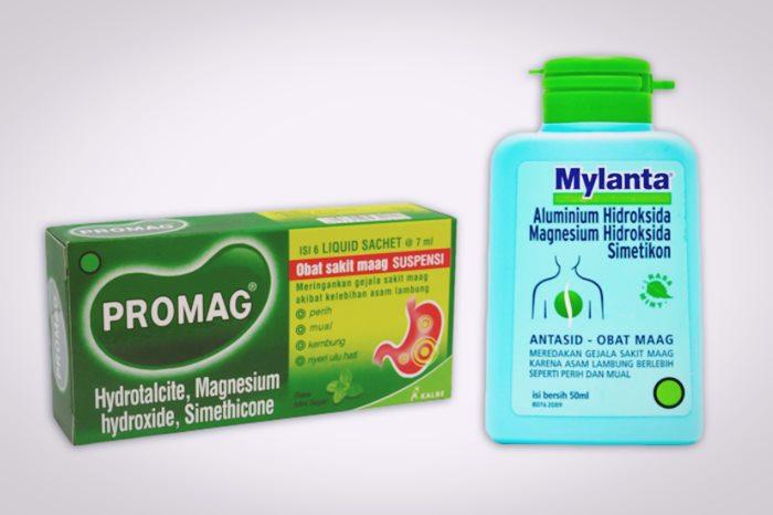 kandungan magnesium hidroksida pada promag dan mylanta