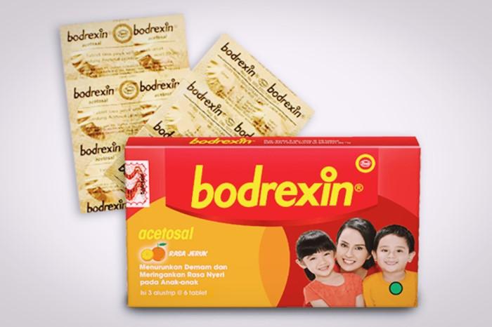 bodrexin obat penurun demam anak