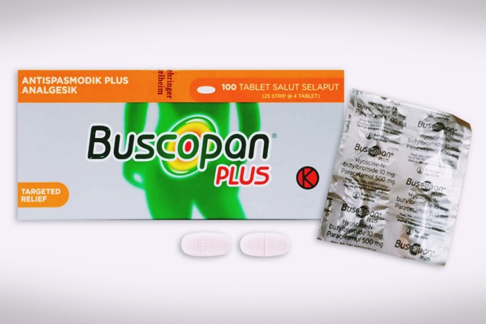 buscopan plus tablet