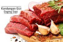 Kandungan gizi daging sapi