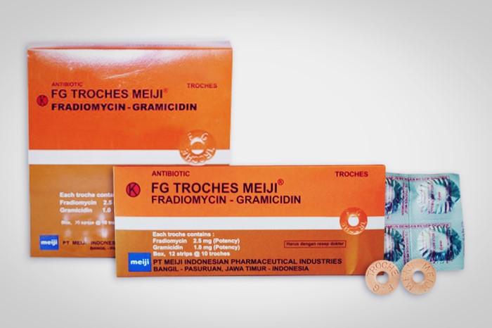 fg troches antibiotik tablet