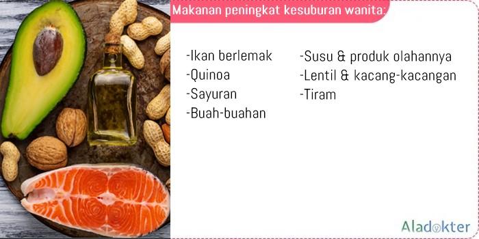 Makanan peningkat kesuburan wanita