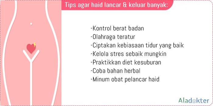 Tips agar haid lancar dan keluar banyak