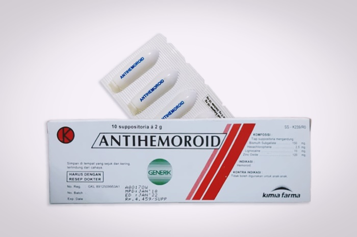 antihemoroid suppositoria generik