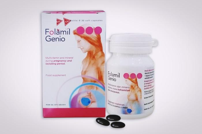 folamil genio vitamin ibu hamil dan menyusui