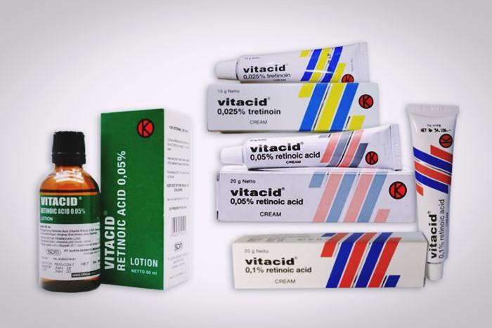 vitacid 0,01 0,05 0,025 % dan lotion